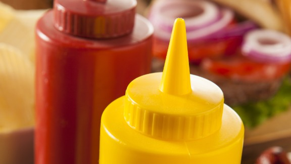 """The dreaded condiment shelf, filled with a half-used bottle of ketchup, crusty mustard and a sad mayo jar from last summer, is so often forgotten. But before you toss, remember that condiments are some of the longest-lasting players in the fridge. The dates on the bottles are really more """"best buy"""" dates, not expiration dates, and the products are usually good for several months after the date. Once opened, most mayo is good two to three months after the """"best by"""" date; ketchup keeps its flavor for about six months in the fridge; and mustard and pickles are good for up to a year! Salad dressings last about six to nine months. And that jar of salsa that you couldn"""