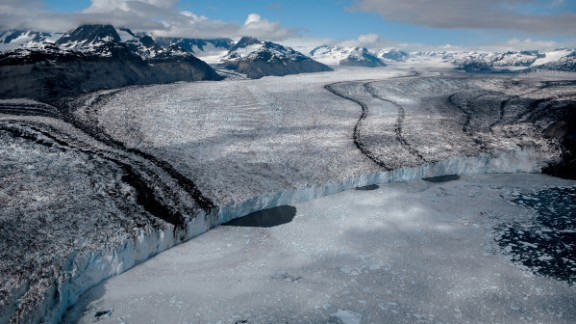 Columbia Glacier in Alaska has retreated 11 miles since 1980. Since then, it has diminished vertically an amount equal to the height of New York