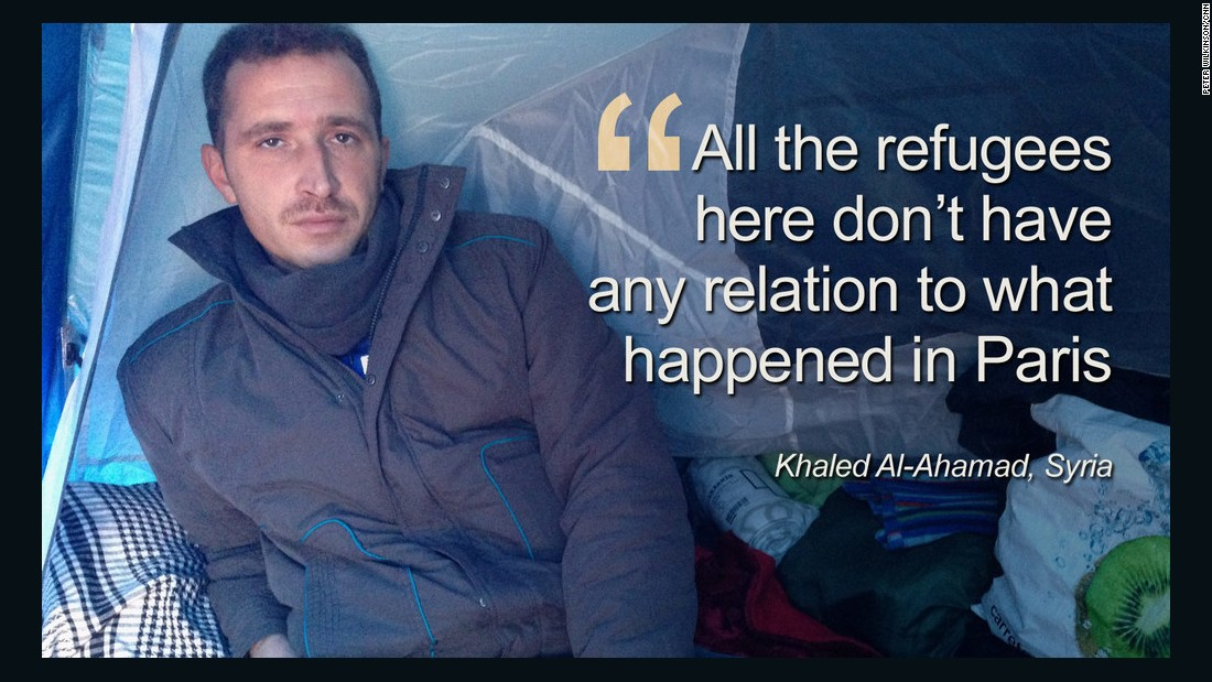 "Khaled Al-Ahamad, from Syria said: ""All the people there who died are innocent, and no one can agree with such acts."""