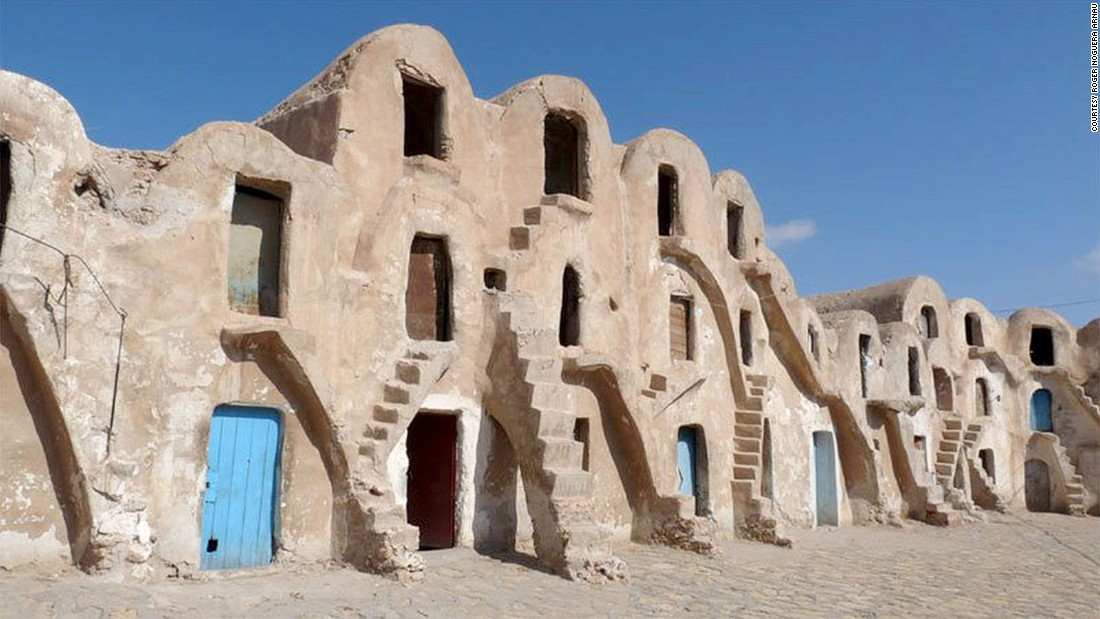 "<strong>Mos Espa slave quarter (Medenine, Tunisia): </strong>When Anakin was a slave boy in ""The Phantom Menace,"" his quarters were filmed on this real-life Tunisian street. The distinctive buildings with vaulted ceilings are ghorfas, used by Berbers to store their grain."
