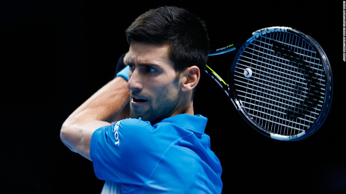 Novak Djokovic remains on course for a fourth straight title at the World Tour Finals after beating Rafael Nadal 6-3 6-3 in London.