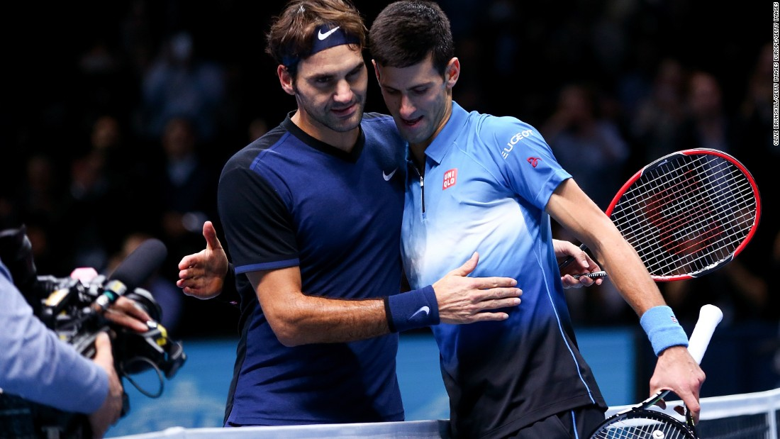 Djokovic meets Roger Federer, left, in a repeat of the 2014 final -- though the Swiss pulled out with a bad back last year. Federer on Saturday breezed against fellow Swiss Stan Wawrinka 7-5 6-3.
