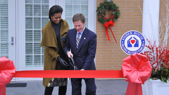 Whether or not you supported the U.S. military action in Iraq, Afghanistan or elsewhere, wounded troops returning home need your support. They get it at Fisher House Foundation homes, like the one here in Bethesda, Maryland, with first lady Michelle Obama and foundation Chairman Ken Fisher.