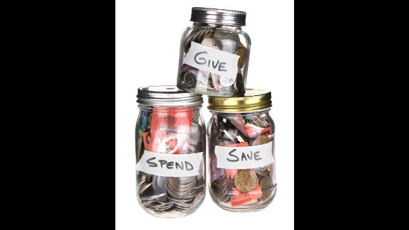 "Teach your children to be giving by helping them save for charity. Have them put aside their allowance money for ""spend,"" ""save"" and ""gift"" allowance jars. The child decides where the proceeds in the ""give"" jar go."