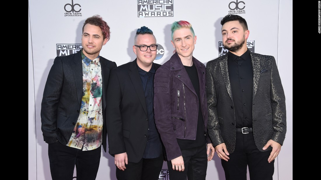 Kevin Ray, Sean Waugaman, Nicholas Petricca and Eli Maiman of music group Walk The Moon