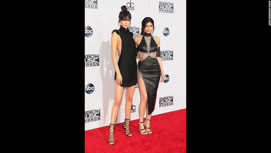 Kendall and Kylie Jenner attend the 2015 American Music Awards at the Microsoft Theater in downtown Los Angeles on Sunday, November 22.