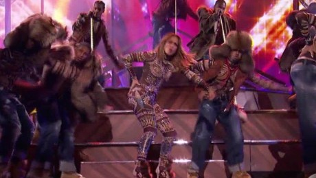 Jennifer Lopez performs at the American Music Awards