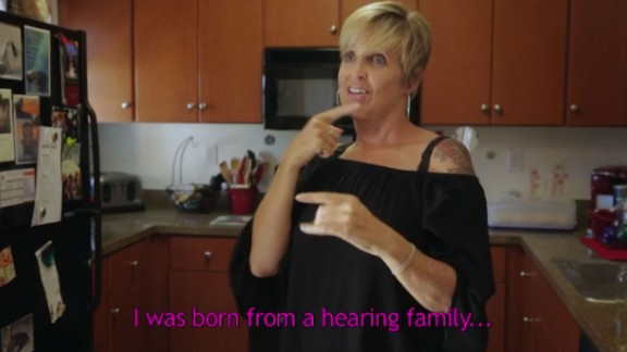 Jamie Crowley is deaf and is the mother of two deaf sons.