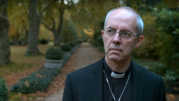 Archbishop Welby featured in the Church of England advert which has been banned from most UK cinemas.