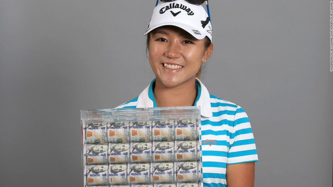 And the teenager also took home a box of $1 million in cash -- her prize for winning the 2015 Race to the CME Globe.