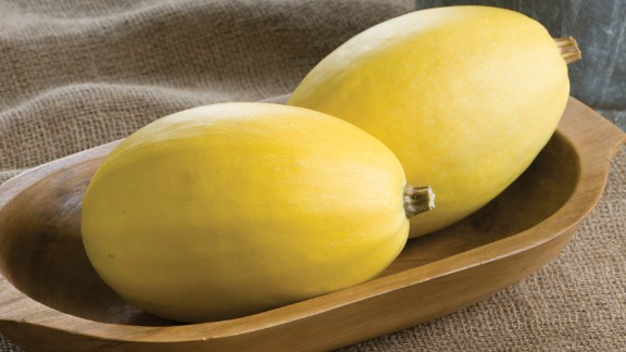 Another great roasting squash. The personal-sized Pinnacle Spaghetti squash is a little smaller than the usual spaghetti squash type. Take a fork and run it along the inside to create spaghetti-type strands that are a great alternative to traditional spaghetti.