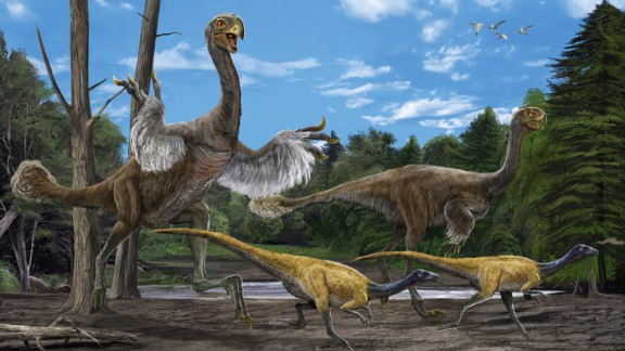 In 2005, paleotologist Xu Xing and a group Chinese paleontologists excavated the bones of this giant bird-like dinosaur. It