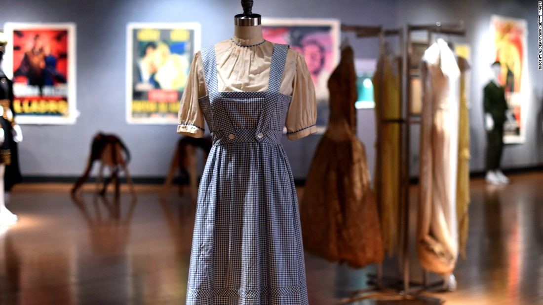 "The iconic blue gingham apron and shirt costume that Judy Garland wore as Dorothy in the 1939 classic ""The Wizard of Oz"" sold for $1,565,000 at a New York auction. Here are other items that fetched eye-popping record sales prices on the auction block in recent times:"
