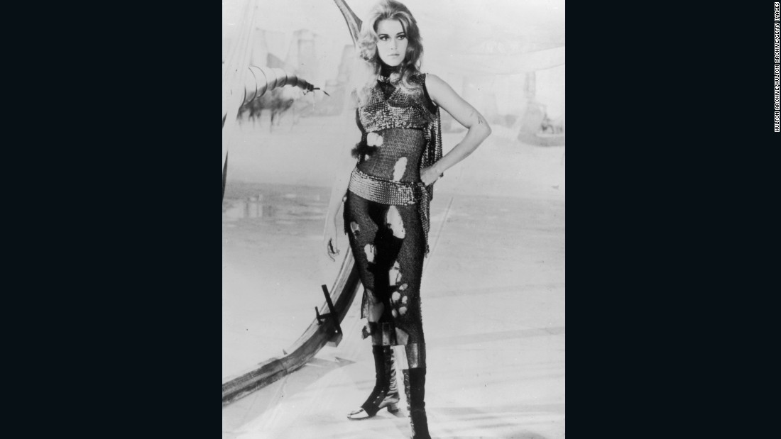 "Jane Fonda offers us a futuristic re-imagining of the Amazon woman in 1960s space adventure, ""Barbarella."""