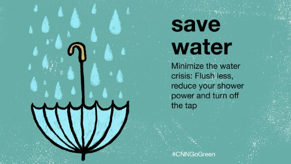 "According to British NGO Waterwise, some old-fashioned toilets use 13 liters of water every flush -- over 6 times the amount of the recommended daily use.  Using a dual flush toilet can save water. Switching to a ""low flow"" shower head reduces the amount of water usage, and maintains the power of a normal shower."