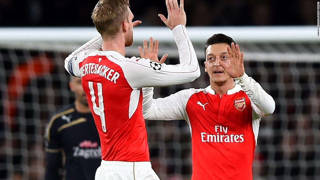 Mesut Ozil of Arsenal made the crucial breakthrough for Arsenal against Dinamo Zagreb in the 3-0 win.