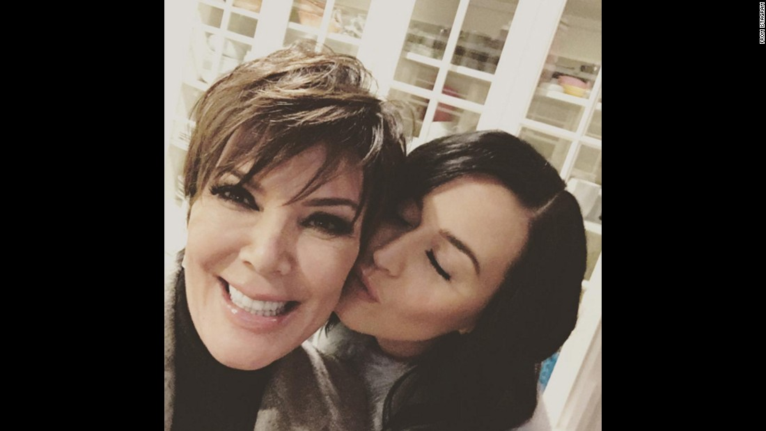 "Pop star Katy Perry kisses television personality Kris Jenner in this selfie posted by Jenner on Thursday, November 19. ""It's us again!!!"" <a href=""https://www.instagram.com/p/-QYC3hG-P0/"" target=""_blank"">Jenner said on Instagram. </a>""Love you @katyperry fun night #BFF's."""