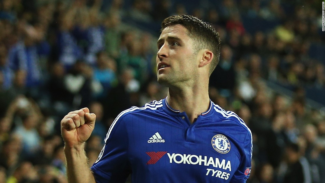 Gary Cahill boosted Chelsea with his goal in the Group G match in Haifa against Maccabi Tel Aviv as the Blues eventually won 4-0.