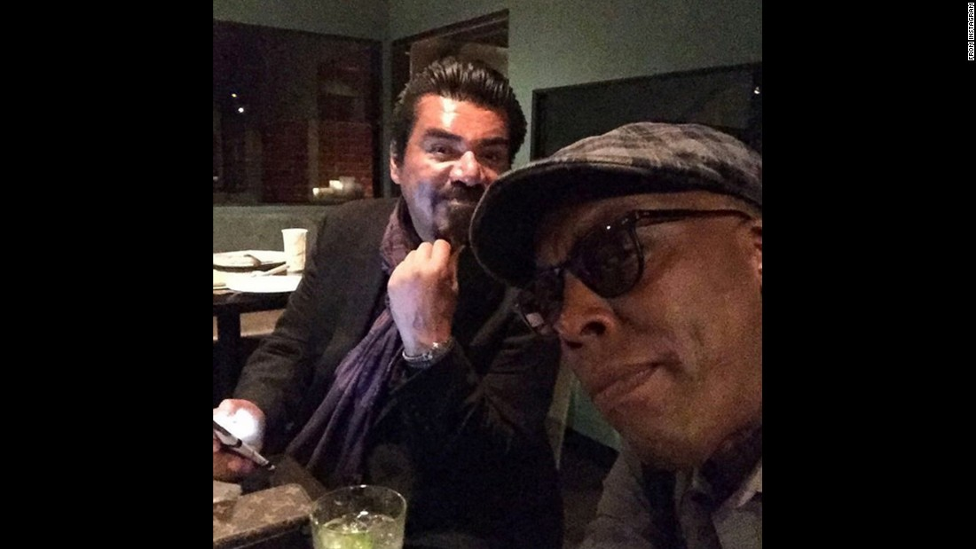 "Arsenio Hall, right, posted this <a href=""https://www.instagram.com/p/-dIygIwiol/"" target=""_blank"">""green room"" selfie</a> with fellow comedian George Lopez on Tuesday, November 24."