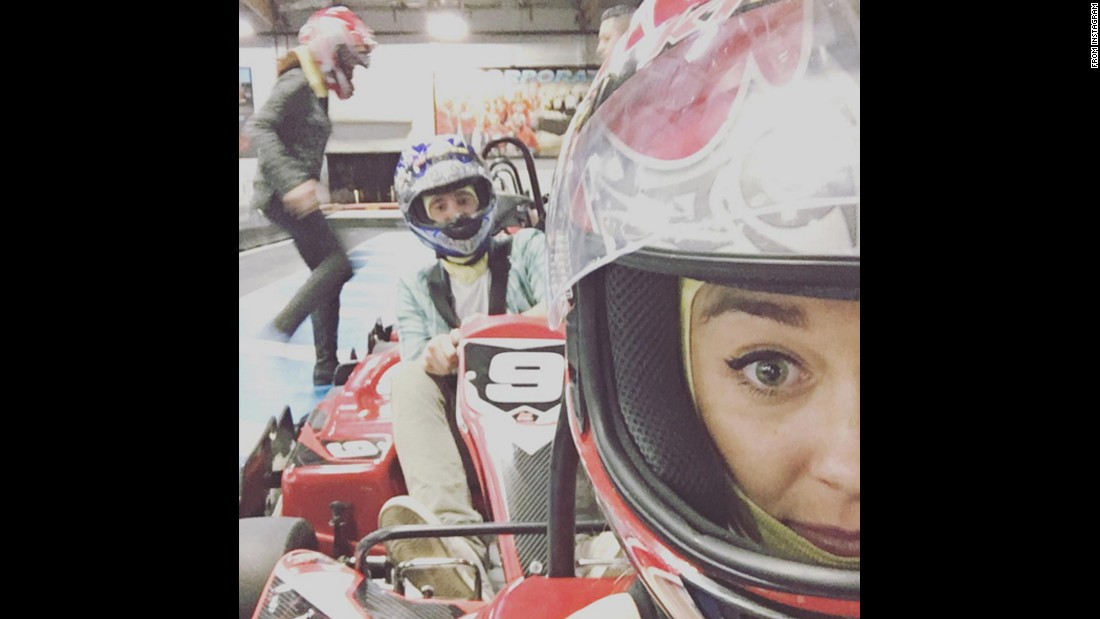 "Television personality Lauren Conrad races go-karts with her husband, William Tell, in this selfie she posted Tuesday, November 24. ""Date night,"" <a href=""https://www.instagram.com/p/-dREw6N51Y/"" target=""_blank"">she said on Instagram.</a>"