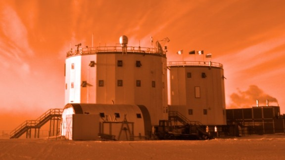 Crews live for up to one year at the research station where cramped living conditions resemble those experienced in spaceflight.