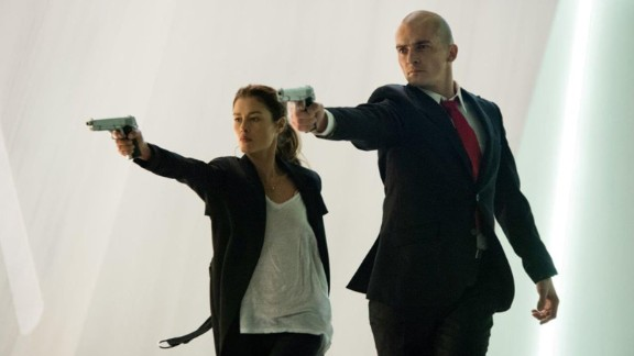 """""""Hitman"""":  Agent 47 has the tables turned on him as he becomes engulfed in a political conspiracy, in this action drama based on a video-game series. (HBO Now)"""