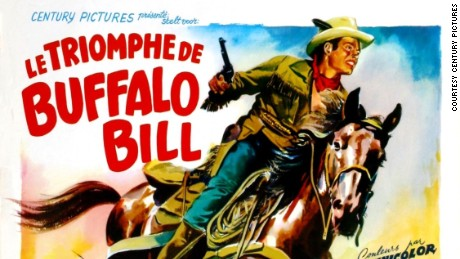 "Poster for the French version of Jerry Hooper's ""Pony Express"" (1954)."
