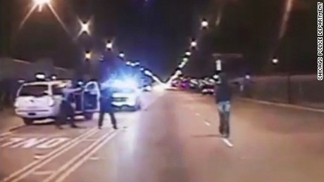 Police released a video Tuesday showing the shooting of 17-year-old Laquan McDonald, who was killed by an officer in October 2014.