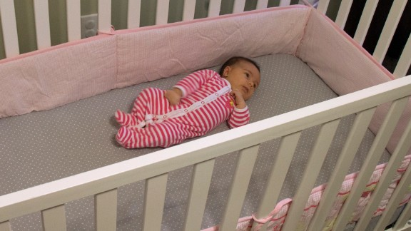 The American Academy of Pediatrics Safe to Sleep Campaign suggests that no soft bedding -- including bumpers -- be used in cribs.   They pose a risk of suffocation, strangulation or entrapment. Mattresses should be very firm, and no toys or pillows should be used. Cribs with drop rails also should not be used. The American Academy of Pediatrics offers more guidance on how to choose a safe crib.