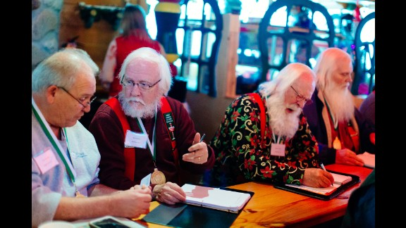 The school runs for three days every October at the Santa House in Midland. The Santas listen to experts speak about marketing, tax laws and Santa Claus' history.