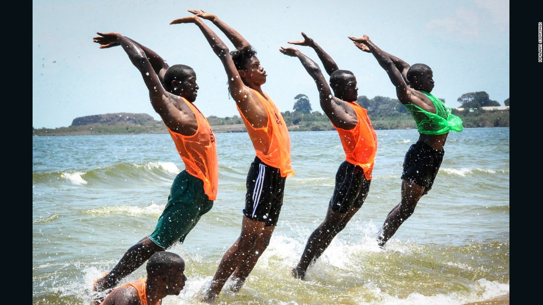 Mpalanyi Ssentongo won third place in the sport category for his portrait of Uganda's national beach soccer team during a beach fitness test in the lead-up to the CAF 2015 beach soccer qualifier against Ghana at Sports Beach, Entebbe.