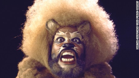 "Actor Ted Ross in a scene fr. the Broadway musical ""The Wiz""."
