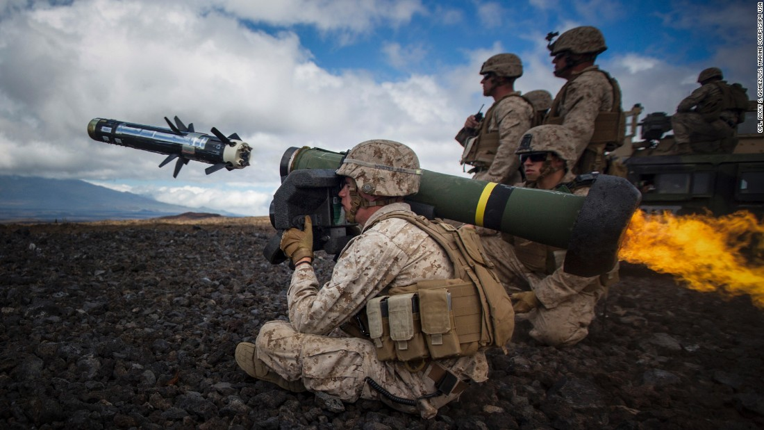 <strong>May 29: </strong>A U.S. Marine fires an anti-tank missile during a training exercise in Hawaii. The photo was taken by Marine Cpl. Ricky S. Gomez.