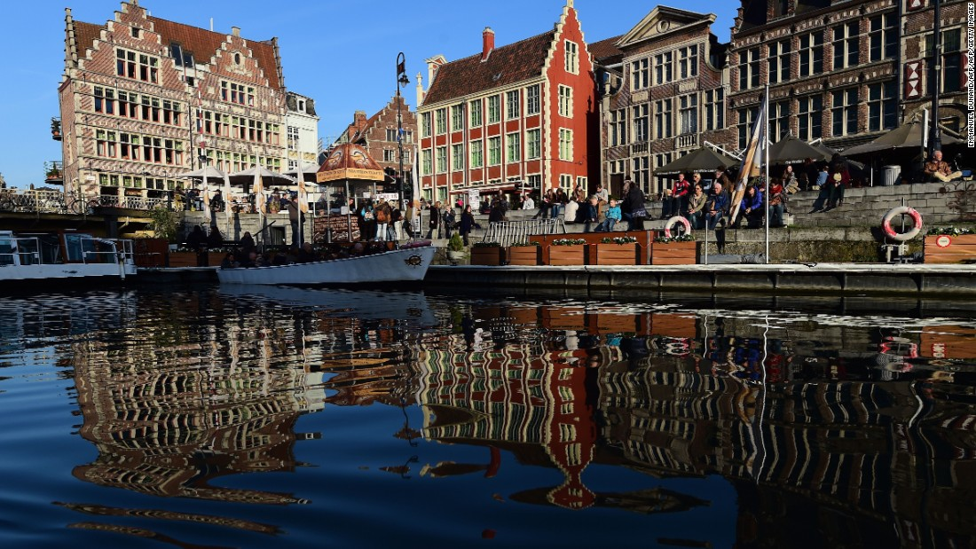 Ghent isn't far from Brussels, about a 40-minute train ride from the Belgian capital.