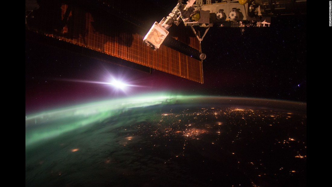"<strong>October 7:</strong> NASA astronaut Scott Kelly, aboard the International Space Station, shared this photo of Earth with his Twitter followers. ""The daily morning dose of ‪#aurora‬ to help wake you up. ‪#GoodMorning‬ from ‪@Space_Station‬!"" <a href=""https://twitter.com/stationcdrkelly/status/651725276498526209"" target=""_blank"">he tweeted.</a>"