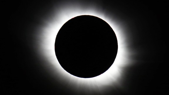 March 20: A total solar eclipse forms over Svalbard, Norway. The rare event was visible from parts of Europe.