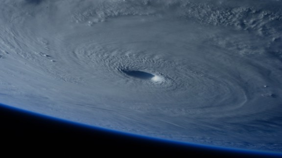 March 31: The eye of Super Typhoon Maysak is photographed from the International Space Station. The storm was churning over the Pacific Ocean, days away from making landfall in the Philippines.