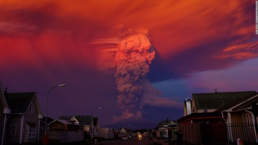 "<strong>April 22:</strong> Smoke rises from the Calbuco volcano near Puerto Montt, Chile. It was the volcano's <a href=""http://www.cnn.com/2015/04/23/americas/chile-volcano/"" target=""_blank"">first eruption in more than 40 years,</a> and nearby residential areas were evacuated."
