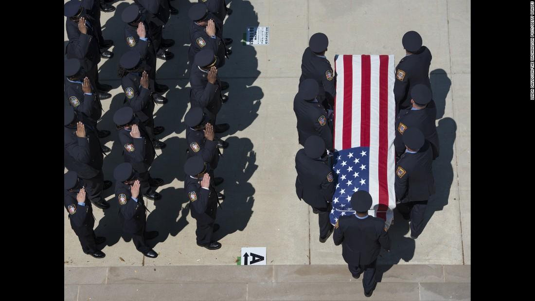 <strong>May 15: </strong>A funeral is held for Lt. Kevin McRae, a 44-year-old Washington firefighter who died in the line of duty.