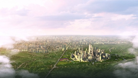 China may perform miserably overall when it comes to air pollution but by 2020, this is what Great City, a town outside of Chengdu, China is projected to look like. It