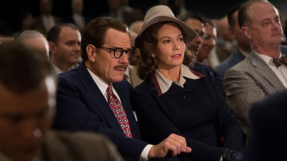 Bryan Cranston and Diane Lane play Dalton Trumbo and his wife, Cleo, in the new film.