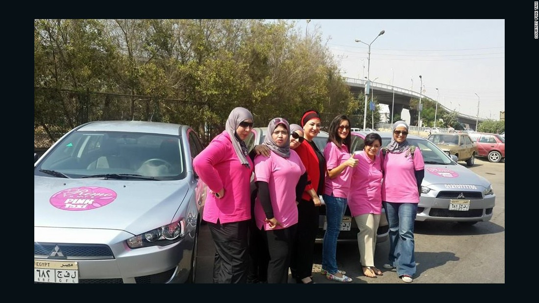 Pink Taxi is a Cairo car service with female-only drivers and passengers.