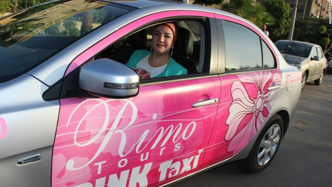 It was started by entrepreneur Reem Fawzy, pictured  here, who says that she wanted to created a safe way for women to travel in the Egyptian capital. More than 99% women in Egypt have reported sexual harassment, which often happens in cabs.