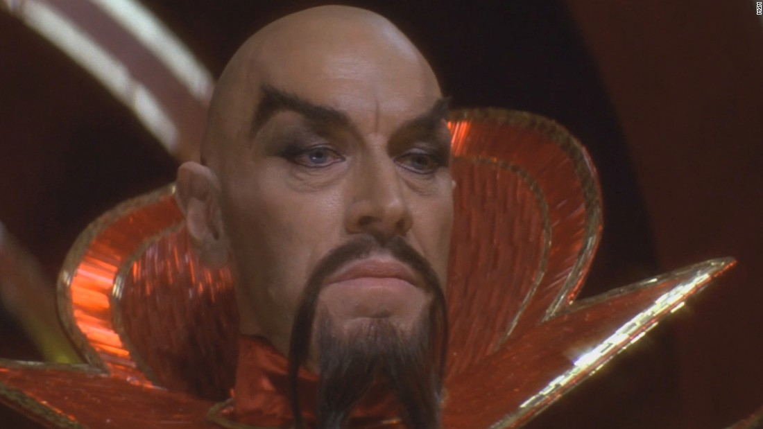 Legendary actor Max von Sydow was almost unrecognizable as the evil Ming the Merciless.