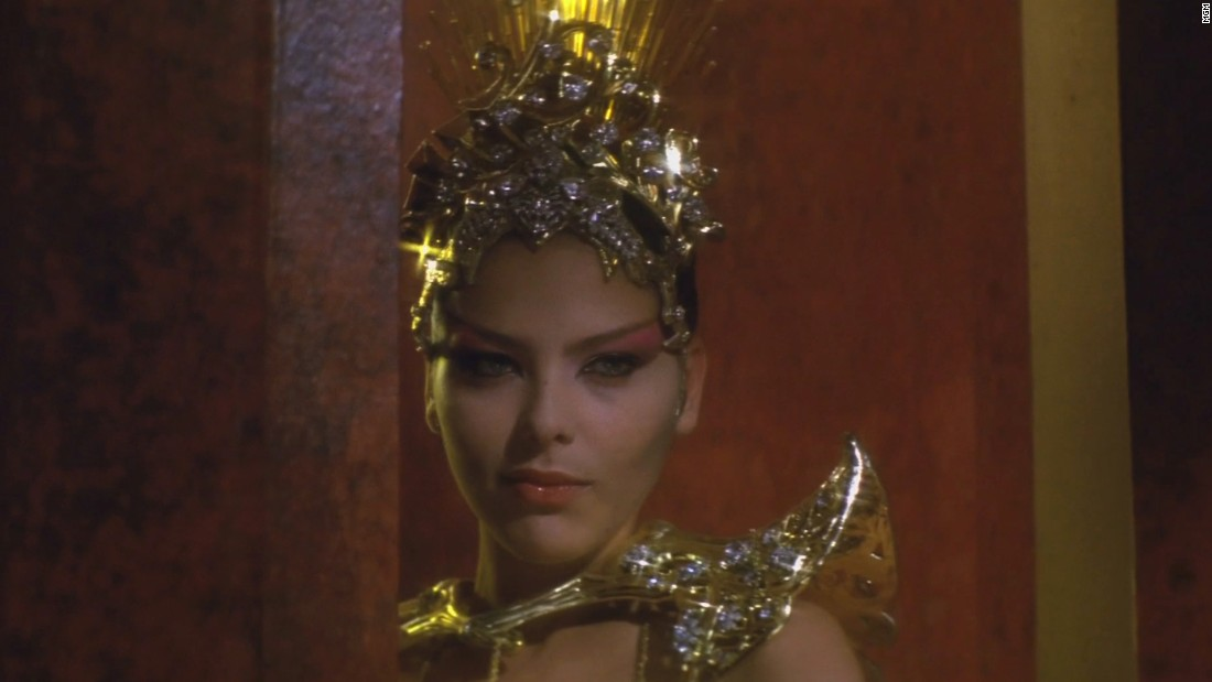 Ornella Muti played the seductive Princess Aura, Ming's daughter.