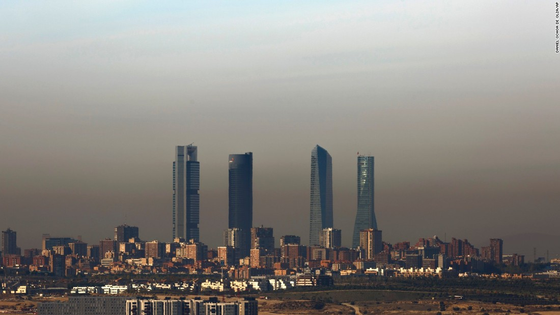 Madrid's vehicle-free zone now extends to over one square mile to reduce the pollution that sometimes covers the city with a murky brown film. A plan to close off 24 of the city's busiest streets is likely to be approved early next year.