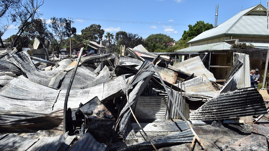 A destroyed property in the small town of Freeling, north of Adelaide, on November 26. The bushfires, which are a regular occurrence in Australia's hot, dry summers, have so far taken two lives this year, with fears that the death toll will rise.