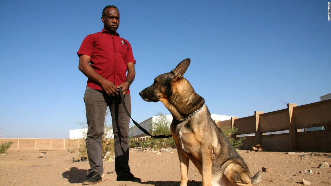 Dr Muiz Ali Taha, founder of the canine mine clearance program in Sudan.