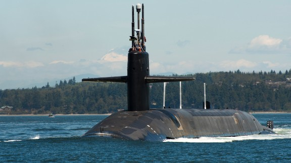 The ballistic-missile submarine USS Pennsylvania (SSBN 735) returns home to Naval Base Kitsap-Bangor following a patrol.