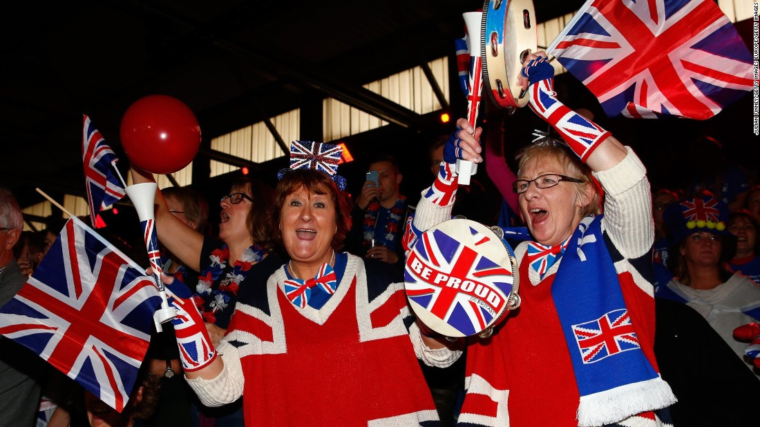 The British fans who made the trip to Ghent near Brussels were in buoyant mood, sensing a huge upset was on the cards.